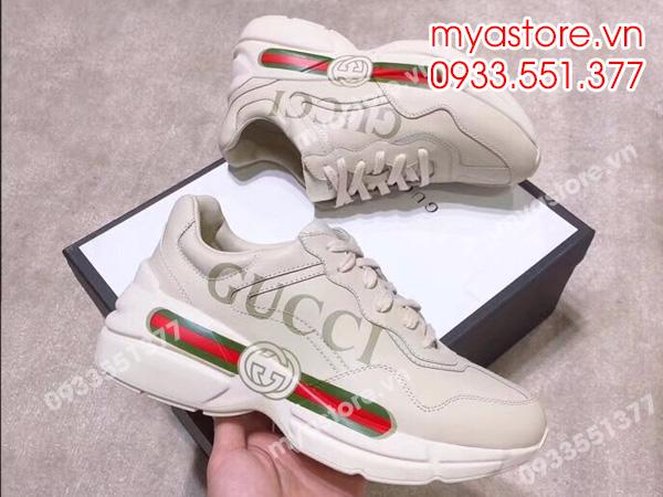 24dd21c14ab Giày thể thao Rhyton Gucci logo leather sneaker siêu cấp Size  38 45